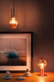 LED kogellamp 2,5 W E14 230 V kopspiegel koper 2700K_
