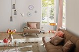 Neordic Soa staande lamp max. 1x20W E27 Wit mat/koper mat/grijs 230V metl/beton_