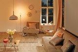 Neordic Soa staande lamp max. 1x20W E27 Zwart/koper mat 230V marmer/metaal_