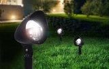 Solar tuinverlichting op spie zwart set van 3 spots._