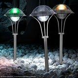 Solar Tuinverlichting rond met grondspie_