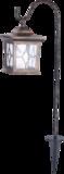 Solar Tuin Lataarn vierkant  flikkerend licht koper._