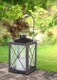 Solar Lataarn vierkant , flikkerend licht zwart/goud_