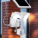 Solar bouwlamp met 2 spots wit_