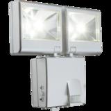 Solar bouwlamp met 2 spots zilver_