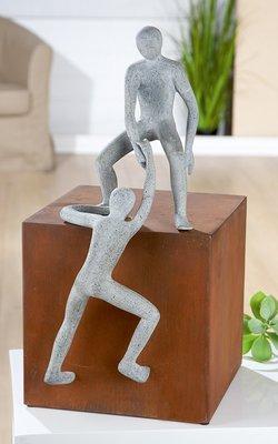 Samenwerken is een kunst beeld - sculptuur samenwerken