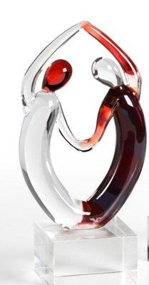 Sculptuur glas levensdans 16 cm
