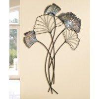 Muurdecoratie metaal Ginkgo bladeren wanddecoratie