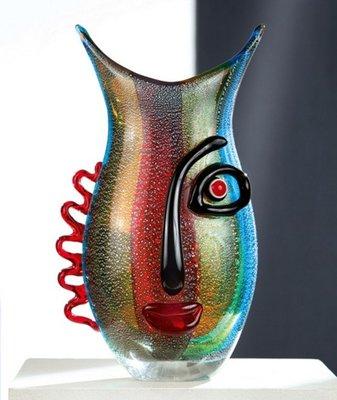 Glazen design vaas Karl