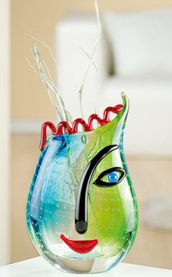 Glazen design vaas Naomi