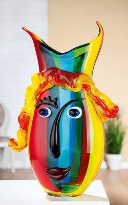 Vaas gezicht Rainbow 37 cm