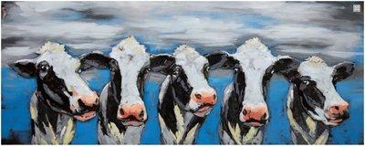 Metalen schilderij 3d Koeien