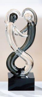 Sculptuur glas dansen 10 cm