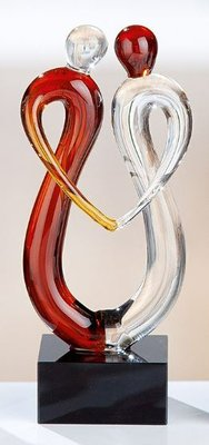 Sculptuur glas art dansen 10 cm