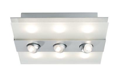 WallCeiling Xeta-spot dimbaar IR afstandsbed LED 24W 320x320 chr m 230V met/glas