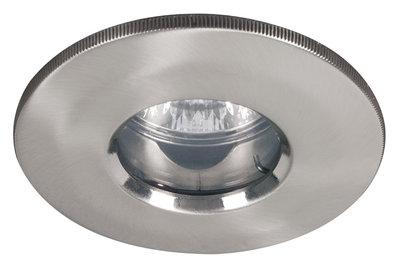 Premium IBA starr IP65 max.35W 12V GU5,3 51mm geborsteld metaal/aluzink