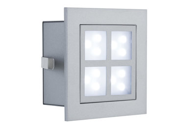 Special IBA Set Wand LED Window 2 2W 230V 90mm Alu mat/metaal