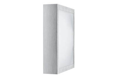 WallCeiling Bound 22W T5 280x280mm geborsteld Alu/Wit