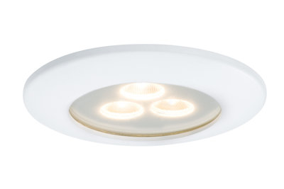 Premium EBL IP65 Pearly LED 1x7,5W 700mA 100mm Wit mat/Alu