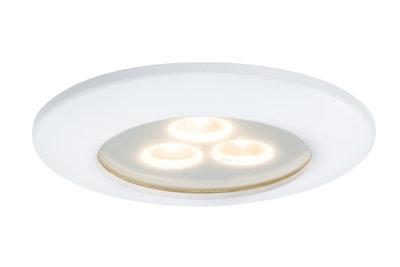 Premium EBL IP65 Pearly LED 1x7,5W 700mA 100mm Wit mat/Alu