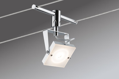 Kabelset, LED, 4x5 W, Meta 230/12 V, wit/chroom