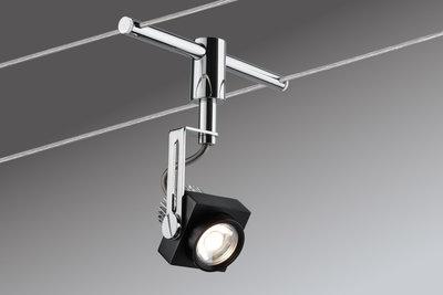 Bedrading systeem Phase 5x5W zwart/chroom 230/12V 36VA metaal