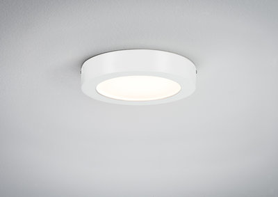 WallCeiling Lunar LED paneel 170mm 11W 230V wit mat alu