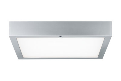 Wandplafond Space LED-paneel RGBW 300x300mm 15,5W 230V chroom mat wit kunststof