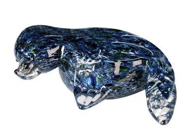 Glassculptuur Zeehond 21 cm