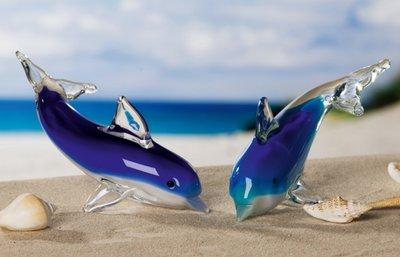 Glassculptuur Dolfijn 17 cm