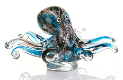 Glassculptuur Inktvis 20 cm