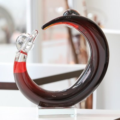 Sculptuur glas cirkel van het leven 24 cm