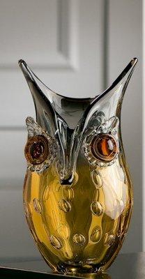Glas dieren uil Vaas 23 cm