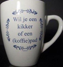 Koffie kopje tekst Wil je een kikker of een (koffie)pad