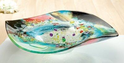 Glazen schaal glasfusion