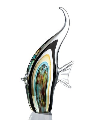 Glassculptuur vis bont