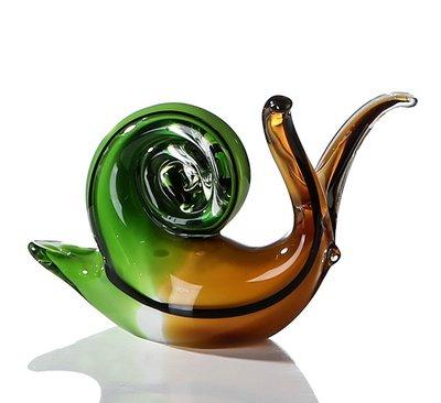Glassculptuur slak