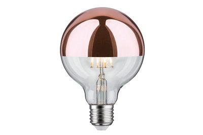 LED Globe 95 7,5 W E27 230 V kopspiegel koper 2700K