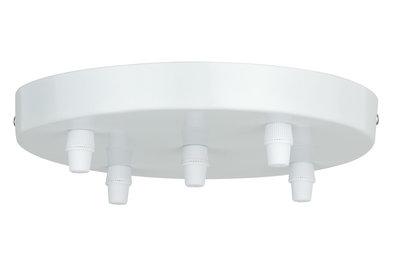 Plafondkap Ø 20cm voor max 5 pendels wit max 60W 230V