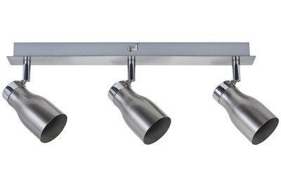 Spotlight Meli max. 3x10 W GU10 nikkel gesatineerd 230 V metaal