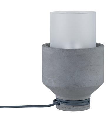 Neordic Helin tafellamp max. 1x20W E27 Grijs/satijn 230V beton/glas