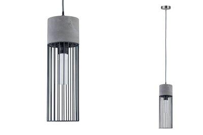 Neordic Henja hanglamp max. 1x20W E27 grijs/ijzer geb 230V beton/metaal