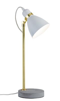 Neordic Orm tafellamp max. 1x20W E27 Wit mat/goud mat/grijs 230V metaal/beton