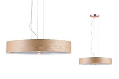 Neordic Liska hanglamp max. 3x20W E27 hout/koper mat 230V hout/metaal