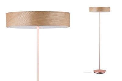 Neordic Liska staande lamp max.3x20W E27 Hout/koper mat 230V hout/metaal