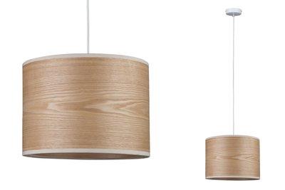 Neordic Neta hanglamp max. 1x20W E27 Hout/wit 230V hout/metaal
