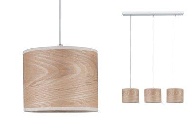 Neordic Neta hanglamp max. 3x20W E27 Hout/wit 230V hout/metaal