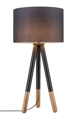 Neordic Rurik tafellamp max. 1x20W E27 Grijs/hout 230V stof/metaal/hout