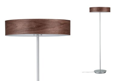 Neordic Liska staande lamp max.3x20W E27 Hout donker/chroom mat 230V hout/metaal