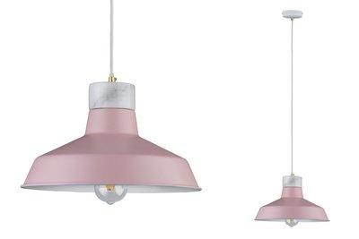 Neordic Disa hanglamp max. 1x20W E27 Rose/wit mat 230V metaal/marmer